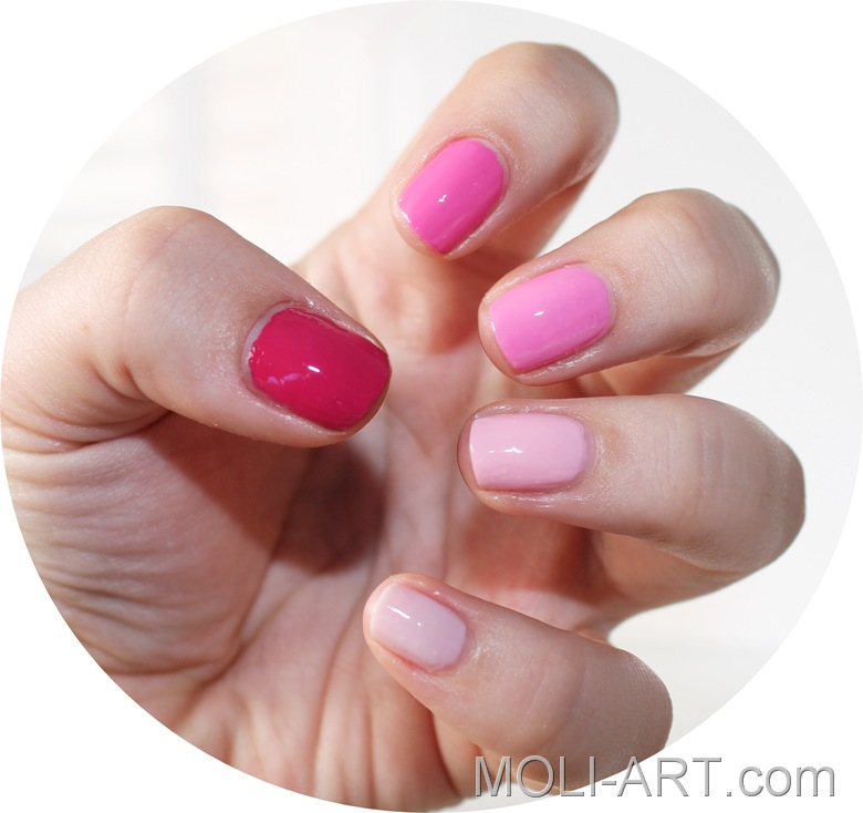 nail-art-degradado-colores-rosa