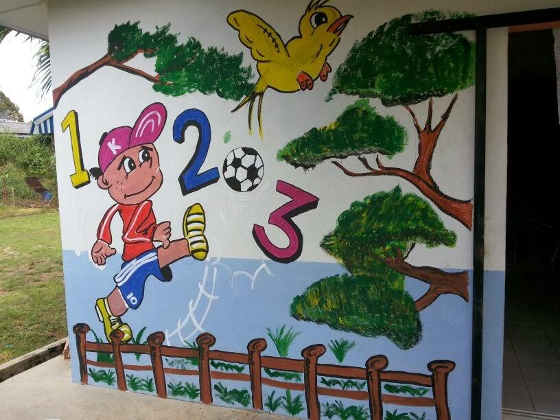 L i y a n a d z b l o g s p o t c o m lukis mural tadika for Contoh lukisan mural tadika