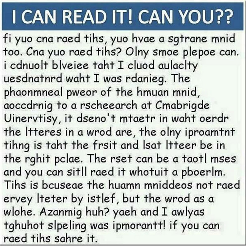 I CAN READ IT! CAN YOU???? puzzle
