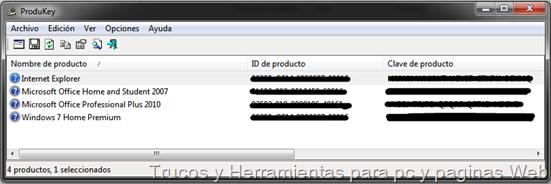 ProduKey utilidad para recuperar la clave del producto original Windows