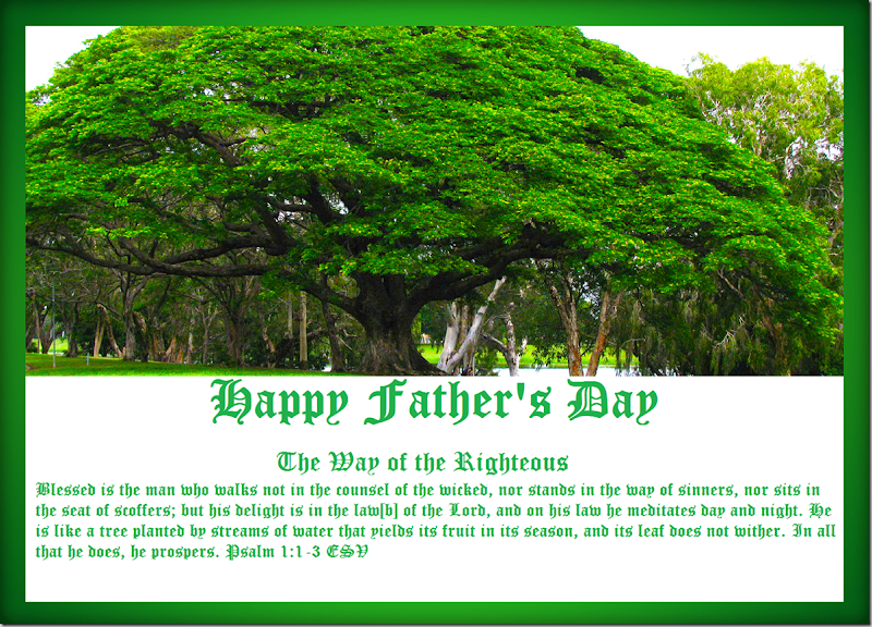 Happy Father's Day ~ The Way of the Righteous. Psalm 1.1-3 ESV