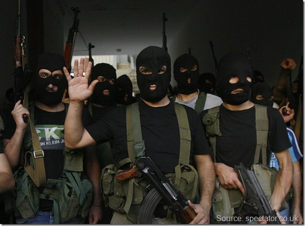 Lebanon Insurgents in Black Masks