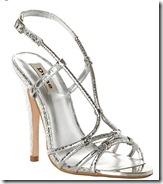 Dune Stiletto Silver Strappy Sandal