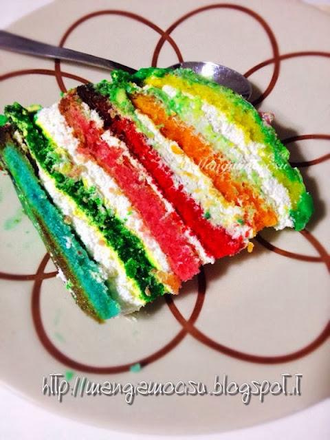 rainbow cake per i miei due amori