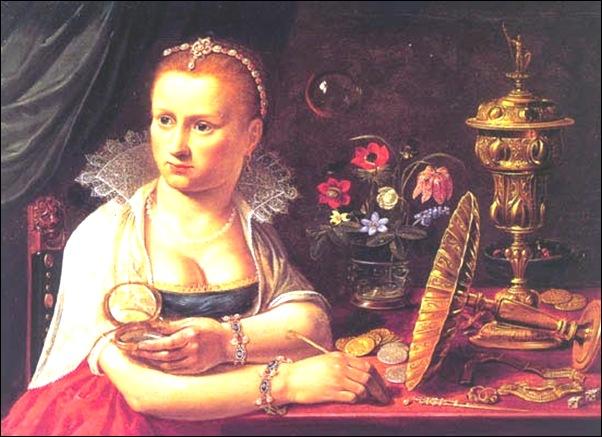 Clara Peeter, Autoportrait en allégorie de la vanité