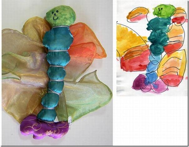 Brinquedos de pelúcia feitos a partir de desenhos de crianças (3)
