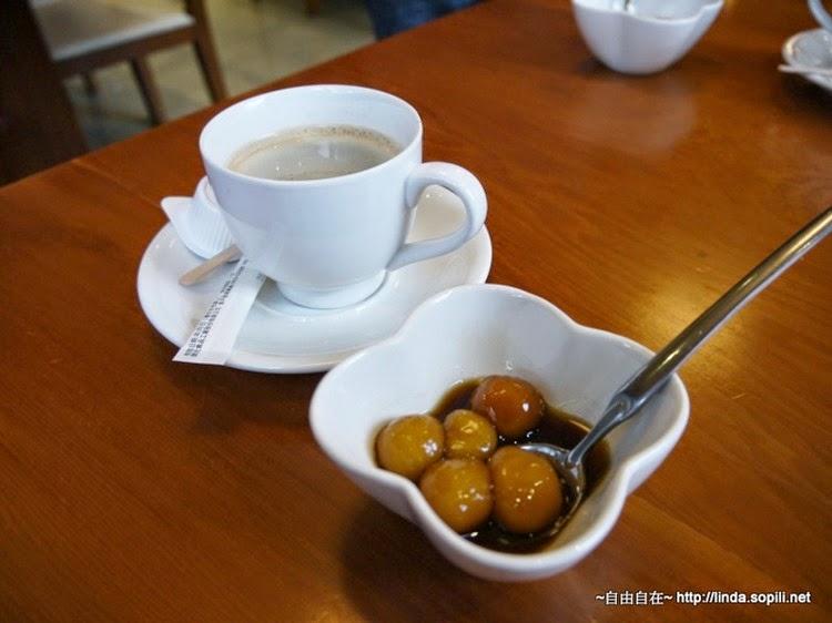 咖啡和薑汁黑糖湯圓,不錯吃