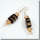 Swarovski with Gold and Black earrings