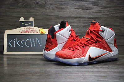 nike lebron 12 gr lion heart 3 06 Upcoming Nike LeBron XII (12) Red / White Lion Heart
