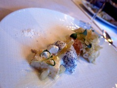 Honeycomb, Greek Yoghurt, poppy seed ice cream, confit lemon, fennel, Ginestière cheese