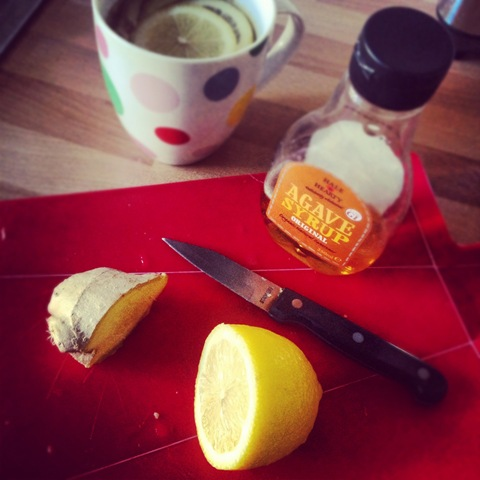 #278 - cold cure of lemon and ginger with agave syrup