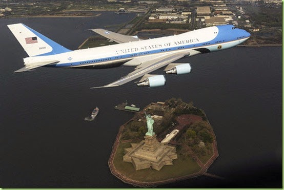 air force one statue of liberty