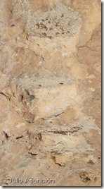 Escalones excavados en la roca - Cueva de San Pascual