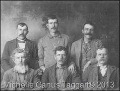 Robert Lee Ganus, Roderick Ganus, Newton Ganus, John Monroe Ganus, John Thackason Ganus, William Franklin Ganus