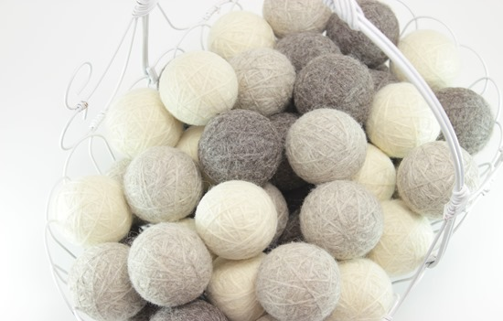 Natural Wool Dryer Balls from www.simpleisprettyshop.etsy.com