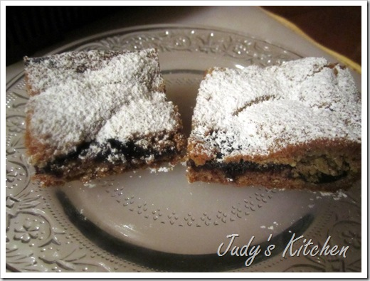 blueberry linzer bars