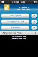 Screenshot of Shop Music