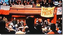 Homenagem a Pinochet no teatro Caupolicán em Santiago do Chile.Jun2012