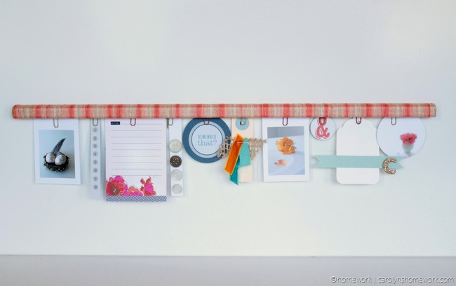 Twine Wrapped Inspiration Clipboard via homework