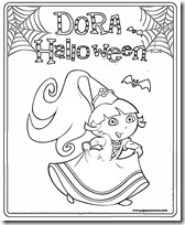 dora halloween jugarycolorear (8)