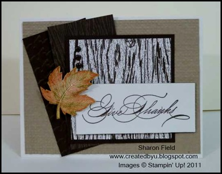 CAS, masculine, texture, well penned, holiday mini, autumn splendor, herringbone, square lattice, technique junkies, splitcoast stampers, sharon_field, createdbyu_blogspot