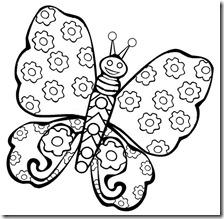 colorear mariposas pintaryjugar com (20)