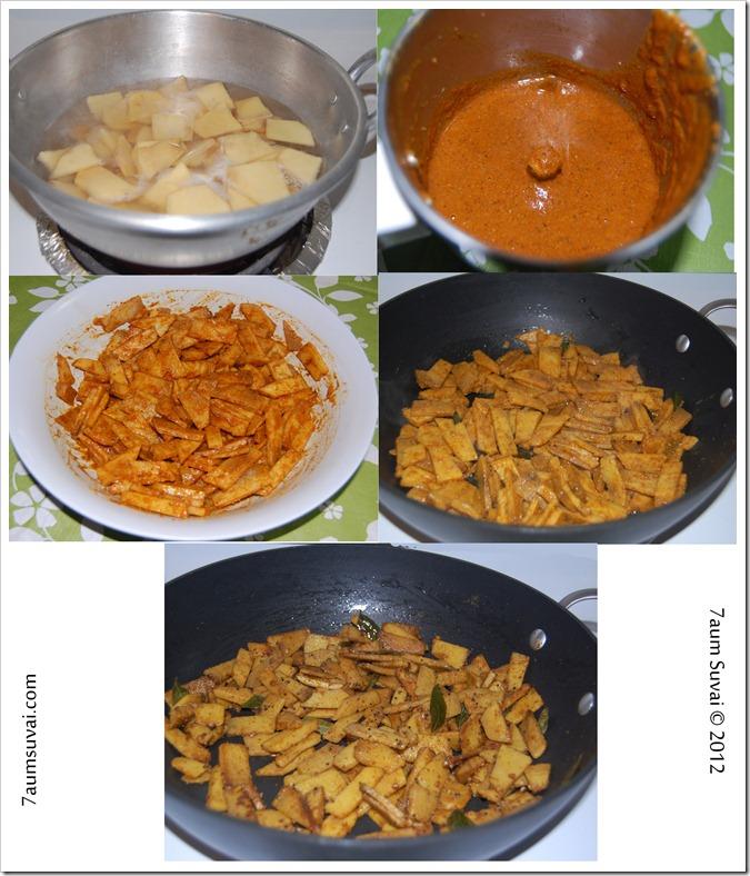 Senaikkizhangu masala fry Process