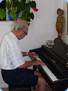George Watt playing the Clavinova