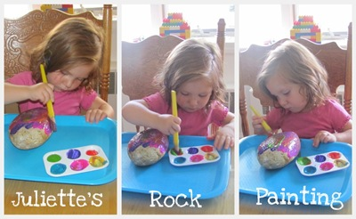 Juliette's Rock Painting