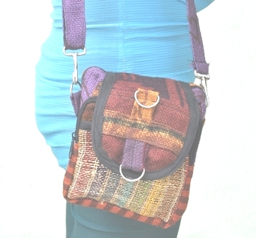 Hemp Small Shoulder Bag with Strap