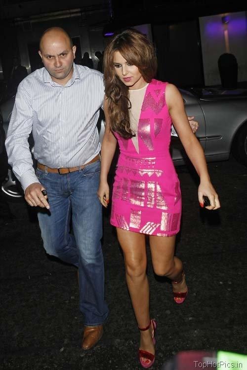 Cheryl Cole Hot Pics in Pink Short Dress 7