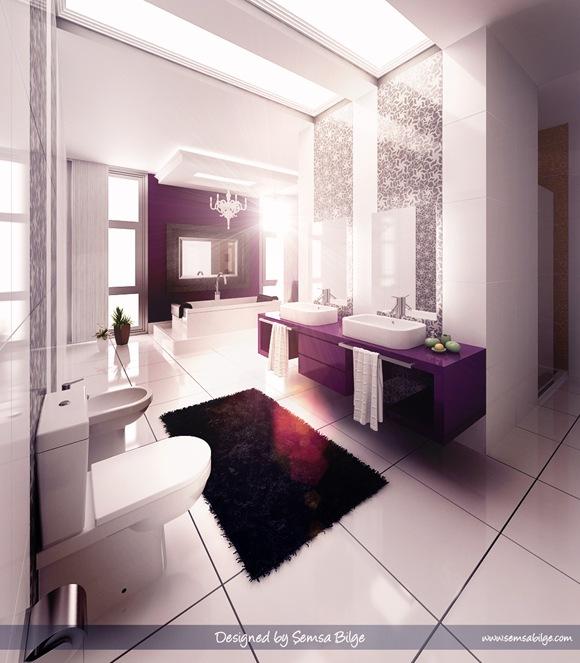 modern-Glamorous-Purple-Bathroom