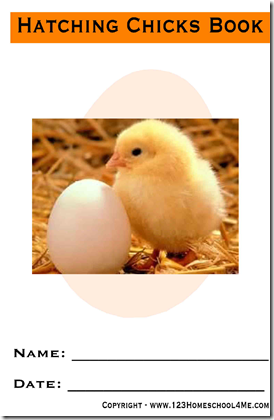 FREE Printable hatching baby chickens book for kids #science #homeschooling