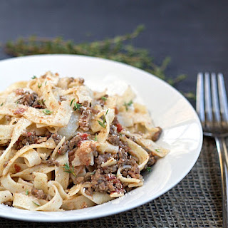 Easy Bolognese Sauce with Egg Fettuccine