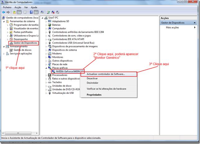 Atualizar controlador de Software