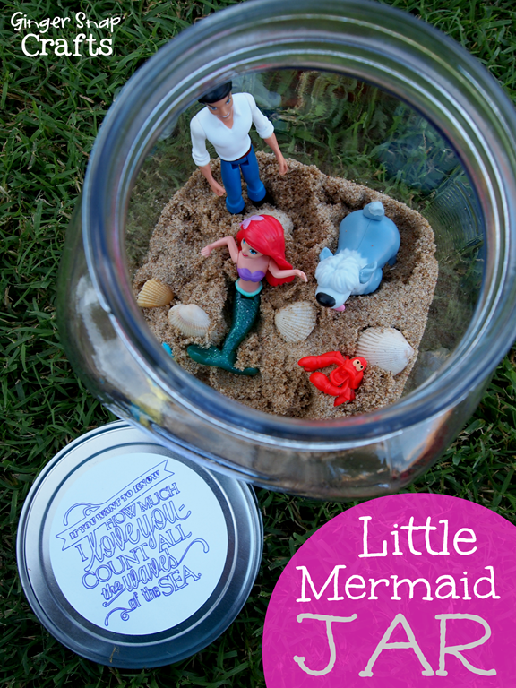 Little Mermaid Jar #shop #tutorial