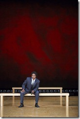 Henry V trtc 008..Henry V, by William Shakespeare, at Two River Theatre, 10/20/12.Director: Michael Sexton.Lighting Design: Allen Hamm.Set Design:Andromache Chalfant.Costume Design:Tilley Grimes..© T Charles Erickson.http://tcharleserickson.photoshelter.com.tcepix@comcast.net.