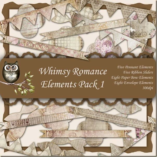 Whimsy Romance Elements Front Sheet Pack 1