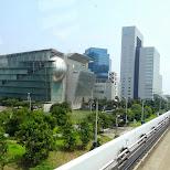 monorail towards the miraikan in Odaiba, Tokyo, Japan