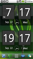 Screenshot of Sense Analog Clock Widget Dark