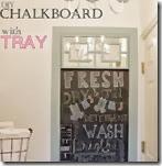 DIY chalkboard with tray-sm