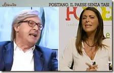 Vittorio Sgarbi e Pina Picierno