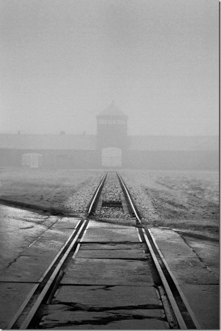 © Jeff Gusky 'Birkenau Silhouette' Auschwitz, Poland 1996