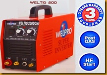 ตู้เชื่อมไฟฟ้า welproTIG200 เล็ก