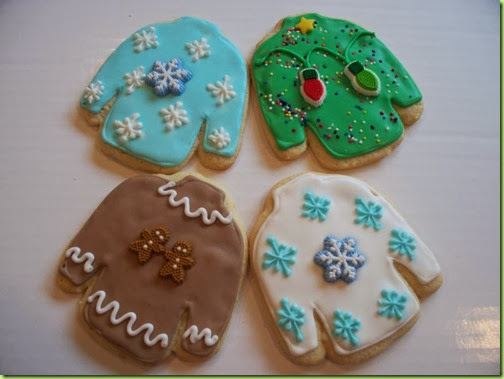 Robin's Ugly Christmas Sweaters Cookies