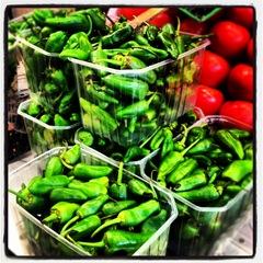 padron peppers at la Boqueria