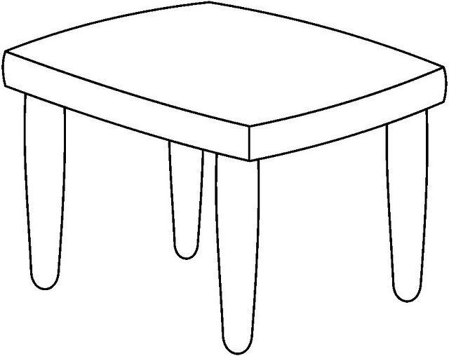 Dibujos para colorear mesas for Dibujar muebles