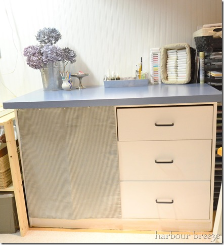 sewing desk after