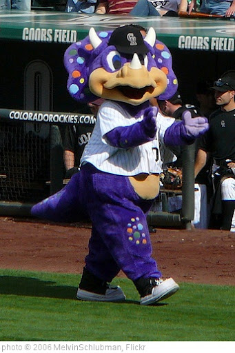 'Dinger, Colorado Rockies mascot' photo (c) 2006, MelvinSchlubman - license: http://creativecommons.org/licenses/by/2.0/