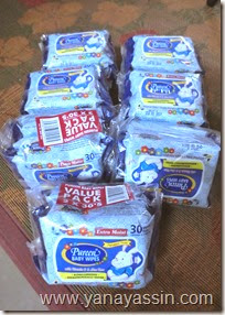 Barangan Pureen Clearance - baby wipes